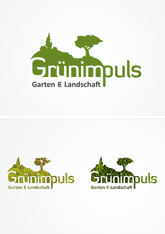 Fur Grunimpuls Garten Landschaft Entwickelte Smoco Das Logos Design Logo Tree Garden Green Garten Baum Galabau Logo Design Logo Garten Baum Logos