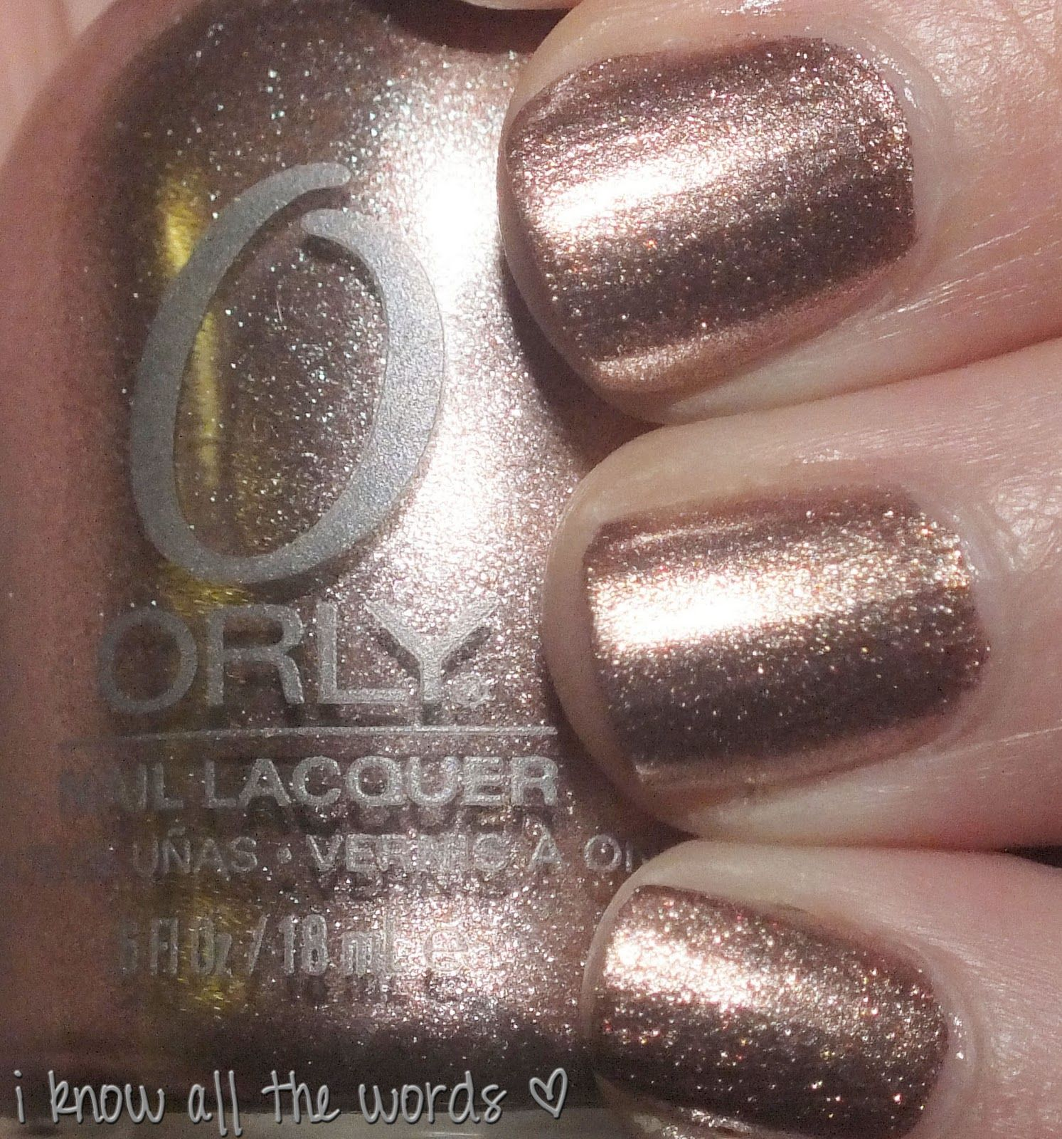 Orly Rage- rose gold foil, how classy | Nails | Pinterest