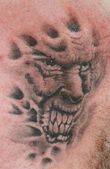 8cac306da Evil Demon Tattoos | Evil demon face tattoo. | EVIL WAYS.... | Demon ...