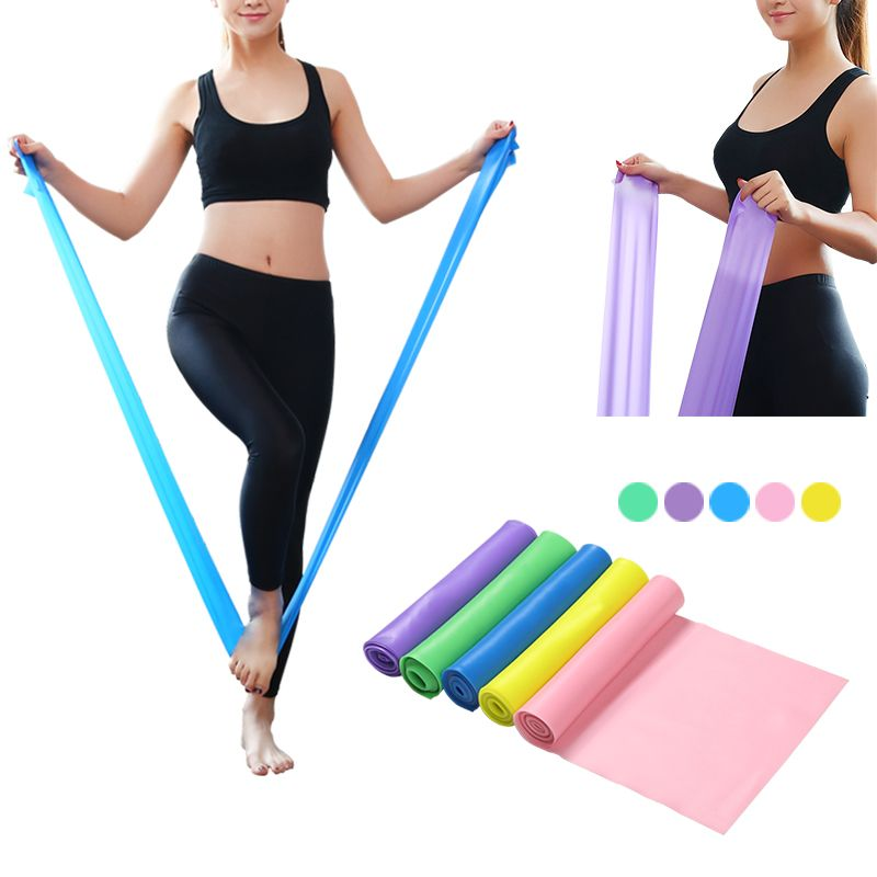 Fitness Equipments Fitness & Body Building Good 1.5m Stretch Band Elastic Fitness Yoga Pilates Rubber Leg Stretching Equipment Fitness Training Pull Rope Equipment Color Random