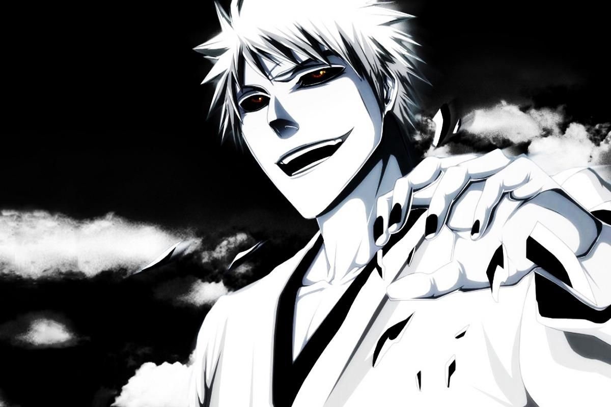 Anime bleach white ichigo and black background mb205 living room home wall modern art decor wood frame fabric poster yesterdays price us 11 98 10 16