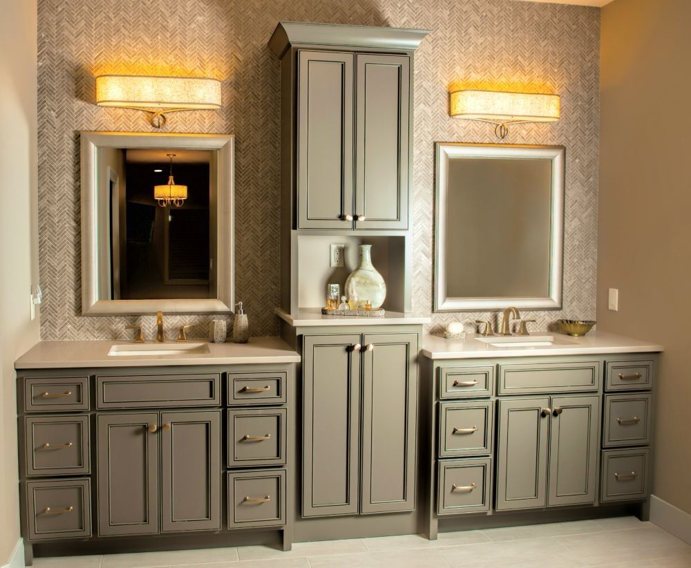 Bathroom Vanities With Matching Linen Towers Bathroom Linen Tower Master Bathroom Vanity Double Vanity Bathroom