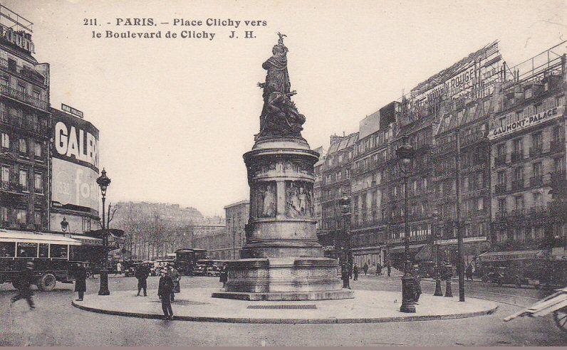 Les anciennes rues de Paris   place de Clichy   8 me, 9 me ...