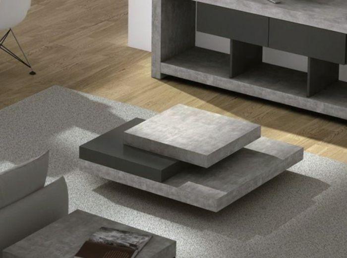 Beton wohnzimmertisch  sehr interessantes design - beton couchtisch | tische | Pinterest ...