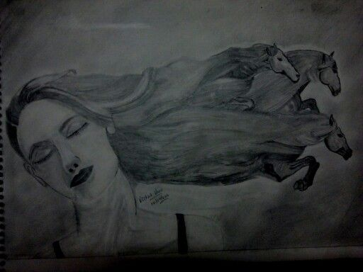 Trance, one of my sketch during my learning phase