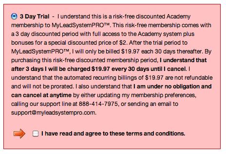 free trial from WA, billing prove