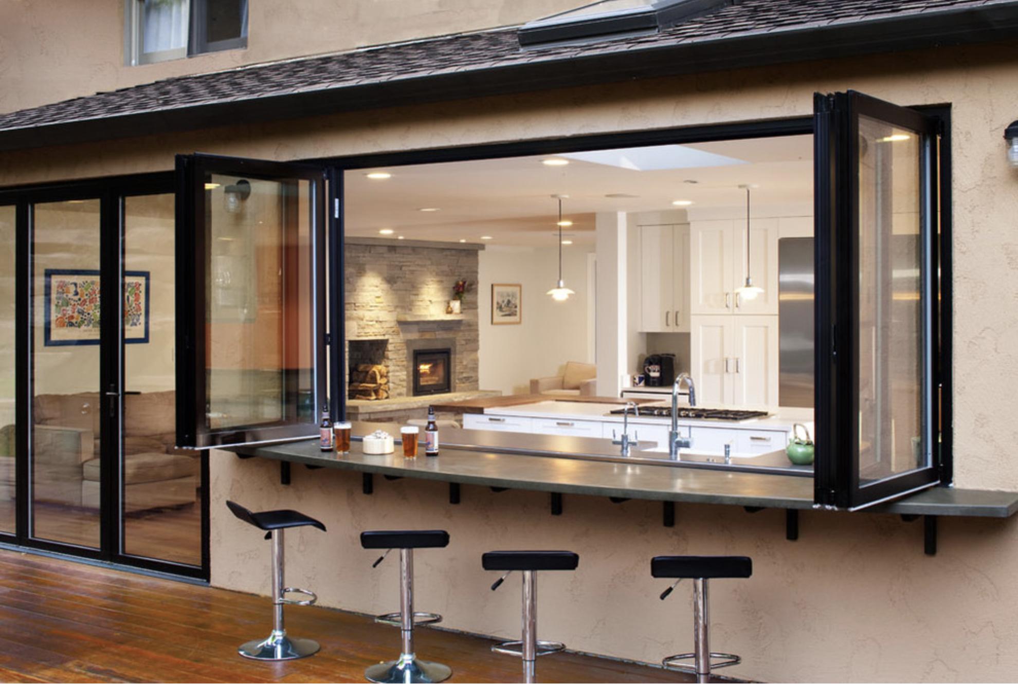 Kitchen service window indoor outdoor cuisine en 2019 bar int rieur cuisine ouverte et maison - Bar interieur maison ...