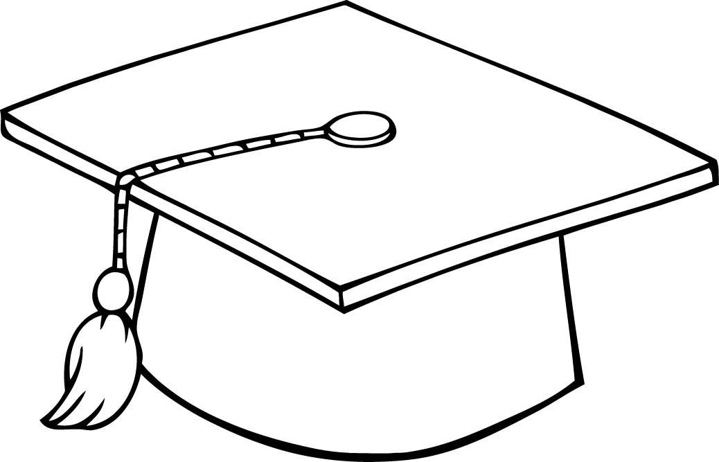 Hat Coloring Pages Best Coloring Pages For Kids Graduation Clip Art Graduation Hat Graduation Cap