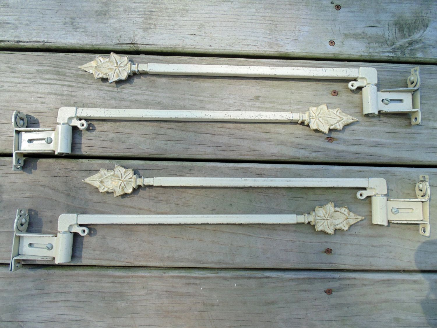 Swing Away Curtain Rods 2 Pair With Wall Brackets Victorian