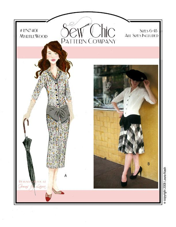 Myrtlewood Dress Sewing Pattern by Sew Chic Pattern Company ...