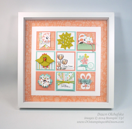 DOstamping Stampin Up 2 squares of punch art and stamping – Easter Cards Stampin Up