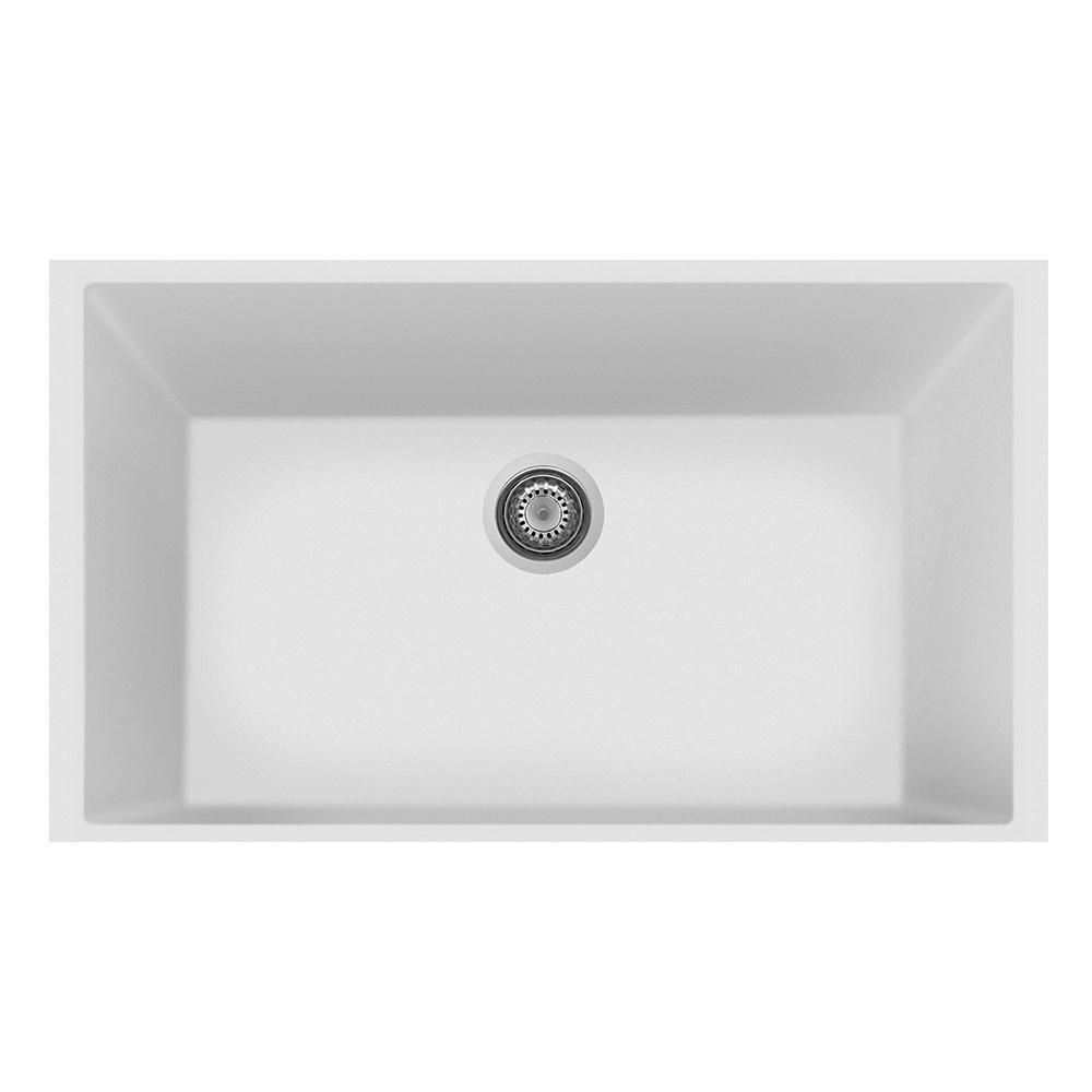 Latoscana Plados Sink Contemporary Styling On8410st Milk White