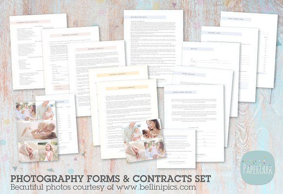 NG017 Photography Contracts \ Forms @creativework247 Stationery - photography contracts