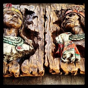 Vintage 1970 Native AMERICAN Indian Wall Art Plaques Home & Garden ...