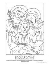 Holy Family Coloring Page Family Coloring Pages Family Coloring