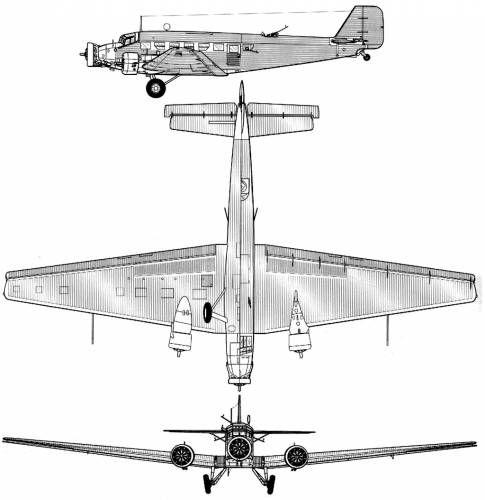 Ju 52 drawings