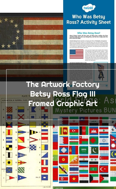The Artwork Factory Betsy Ross Flag Iii Framed Graphic Art In 2020 Betsy Ross Flag Graphic Art Flag