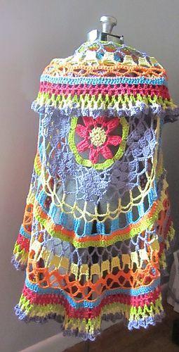 Crochet Circular Jacket Pattern Free Pinterest Best Ideas | Handarbeiten