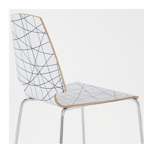 Vilmar chair stripe black chrome plated furniture for Chaise bernhard ikea