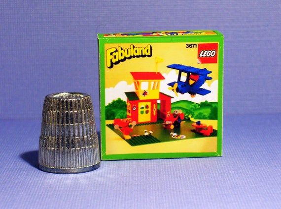 Lego Fabuland Airport Box - Doll House Miniature  1:12 scale - Dollhouse accessory - Miniature box replica - 1980s Dollhouse Lego box #dollhouseaccessories