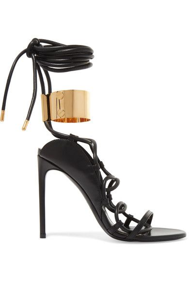 c82827ba0732 TOM FORD Embellished leather sandals.  tomford  shoes  sandals