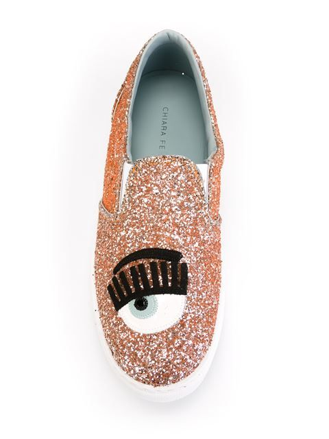 Shop Chiara Ferragni glitter sneakers  in Papini from the world's best independent boutiques at farfetch.com. Shop 300 boutiques at one address.