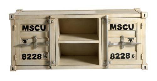 Tv Board Unterschrank Container Mobel Metall B130cm 43kg Neu In