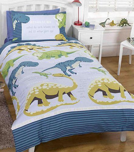 Dinosaur Facts Boys Single Bedding Set