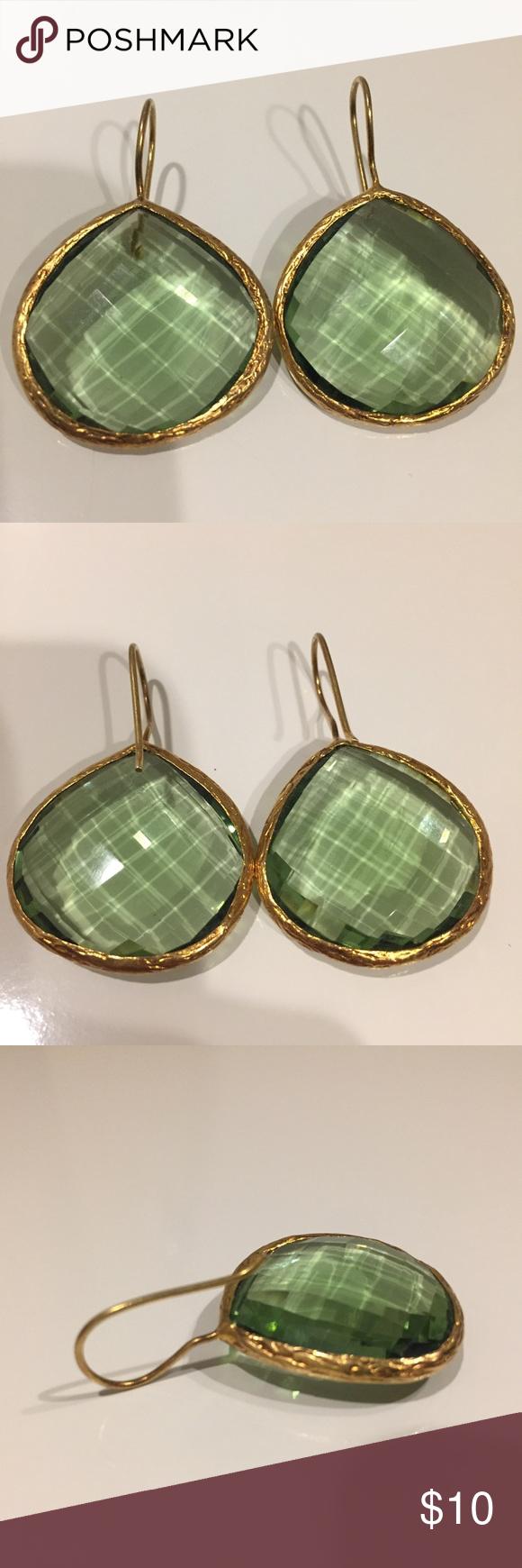 Beautiful green stone earrings