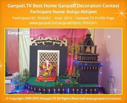 Rutuja Abhijeet Home Ganpati Picture 2015. View More Pictures And Videos Of Ganpati  Decoration At