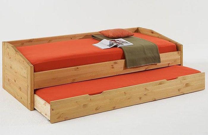 kojenbett kiefer massiv holz bett mit g stebett 90 x. Black Bedroom Furniture Sets. Home Design Ideas