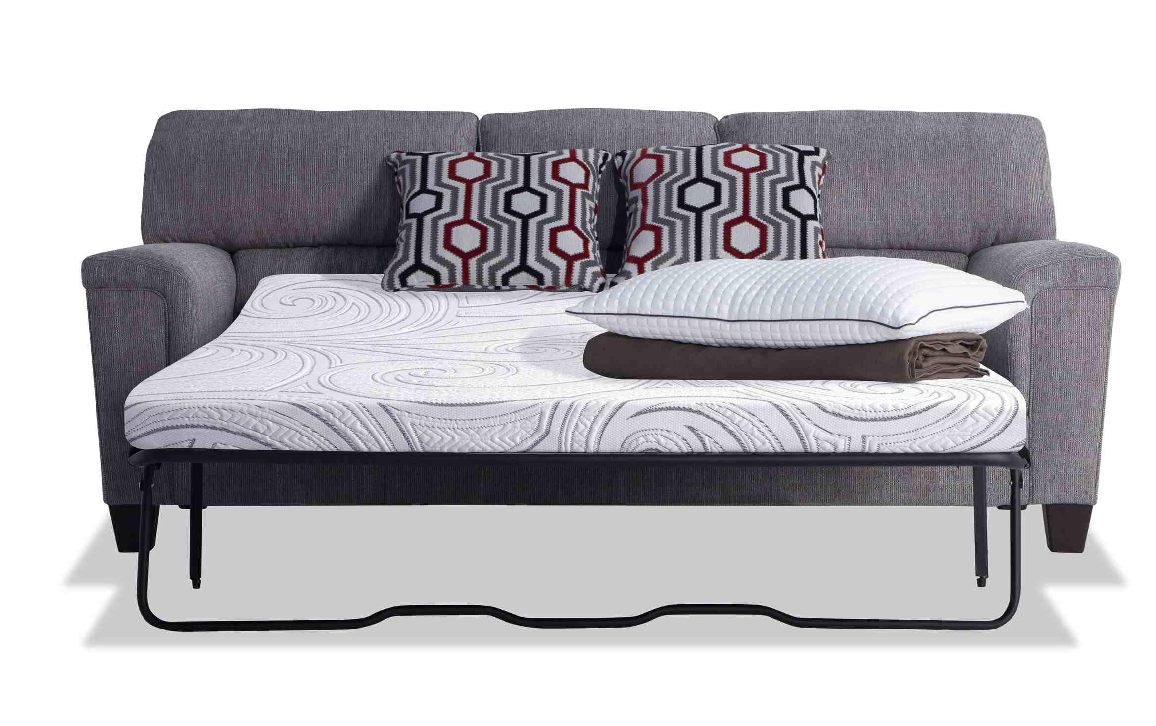 Calvin Concrete Gray BobOPedic Cooling Queen Sleeper