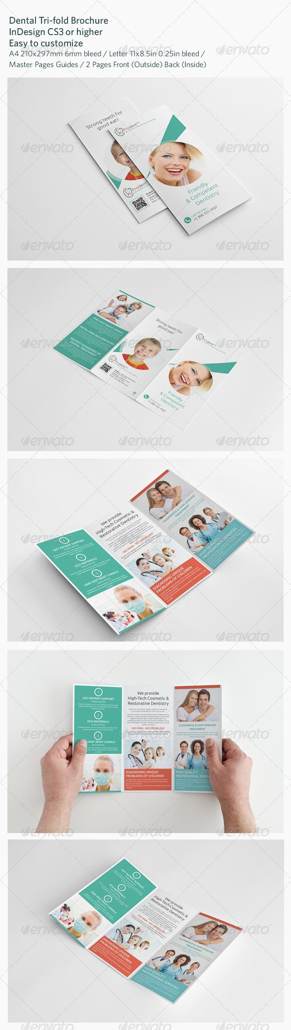 Dental TriFold Brochure  Tri Fold Brochure Tri Fold And Brochures