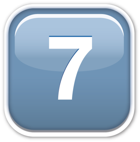 Keycap 7 | EmojiStickers.com