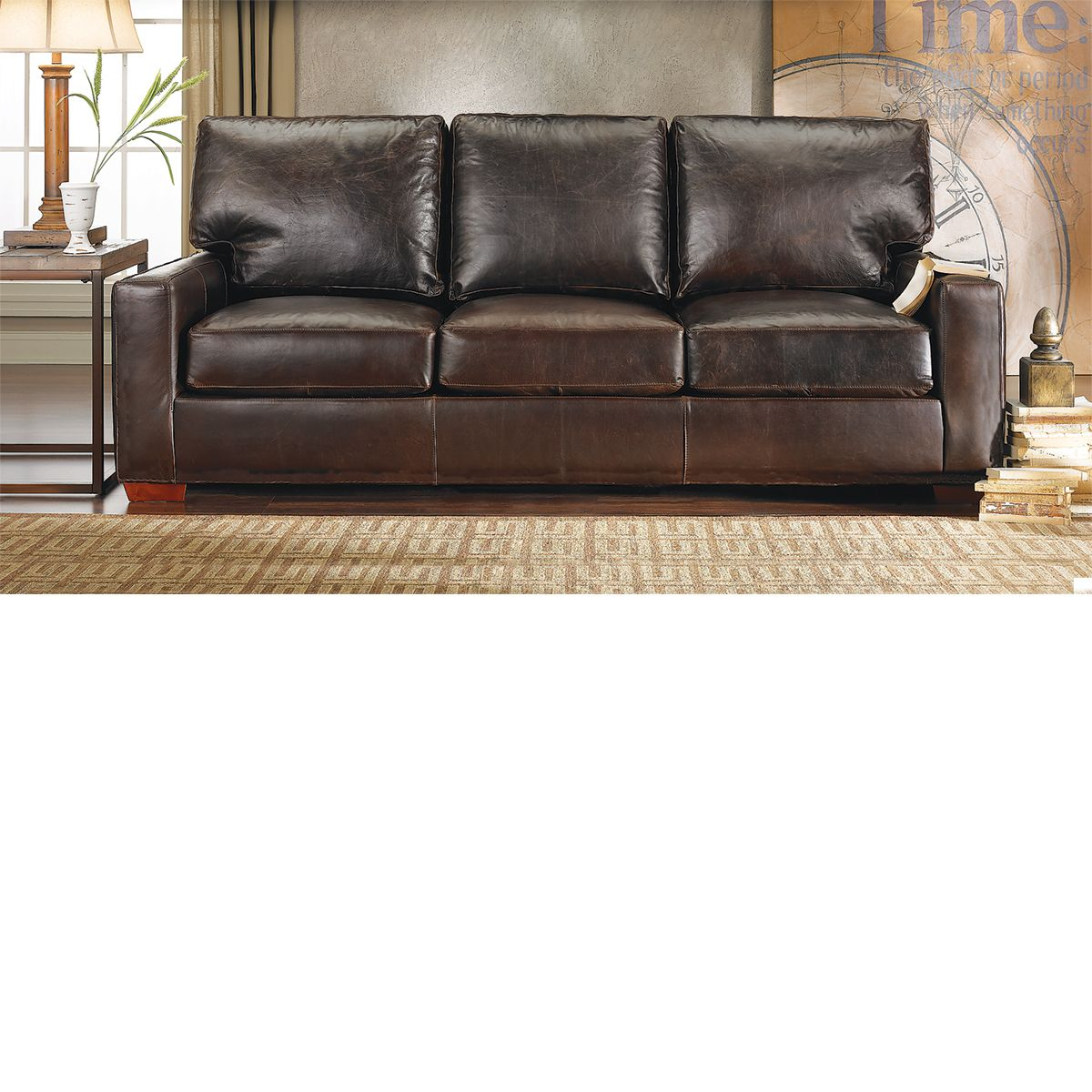 The Dump Furniture Brompton Leather Sofa
