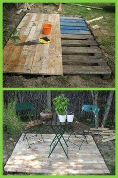 Idée de terrasse en palettes   Garten   Garten, Garten ideen und ...