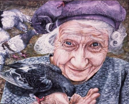 Image of: Faces Older People In Art Oils Acrylicsold Woman Who Loved Pigeonsartworkid 17906 Pinterest Older People In Art Oils Acrylicsold Woman Who Loved