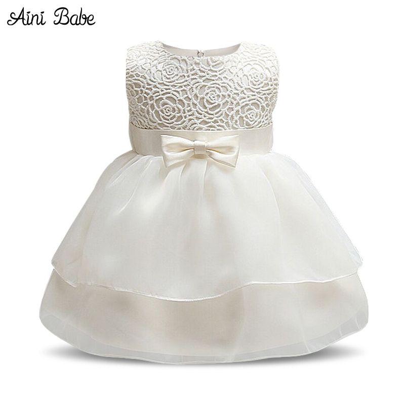 ef185fb8f White Baby Baptism Dresses For Toddler Girl Baby Frock Designs ...
