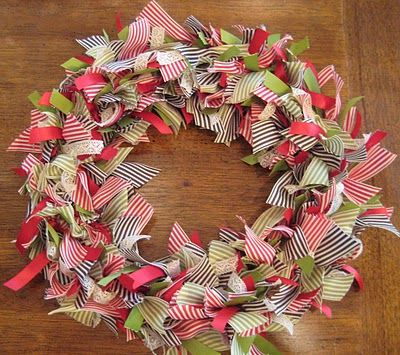 another how to make ribbon wreath tutorial! Now I know what to do
