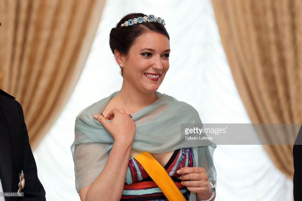 Princess Alexandra of Luxembourg poses for photographers ...