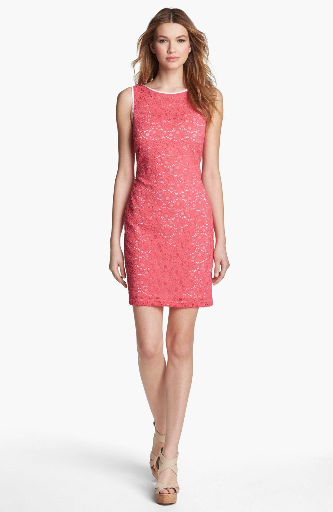 Marc New York by Andrew Marc Sleeveless Lace Sheath Dress For Women ...
