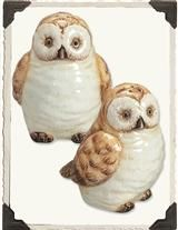 HOOT & ANNIE SALT & PEPPER SHAKERS
