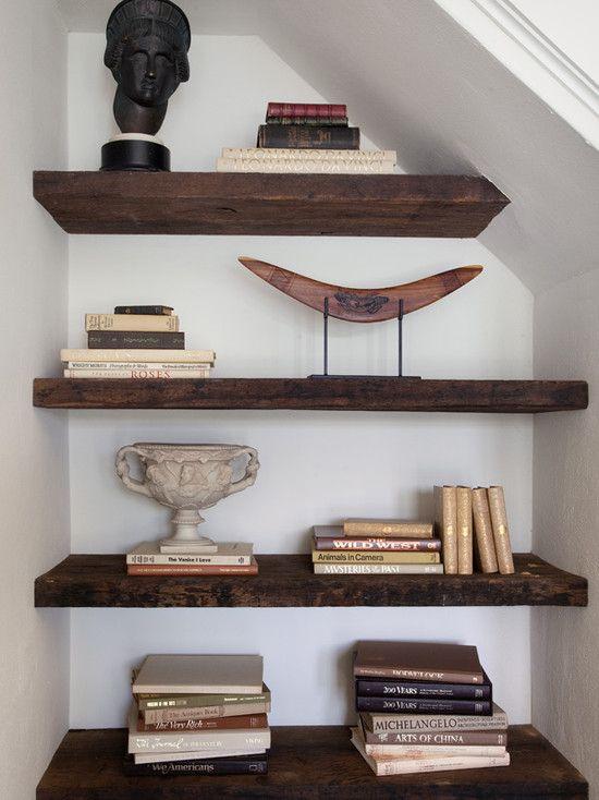 Pin By Caryn Cramer On Store Stash Dark Wood Shelves Wood Shelves Reclaimed Wood Shelves