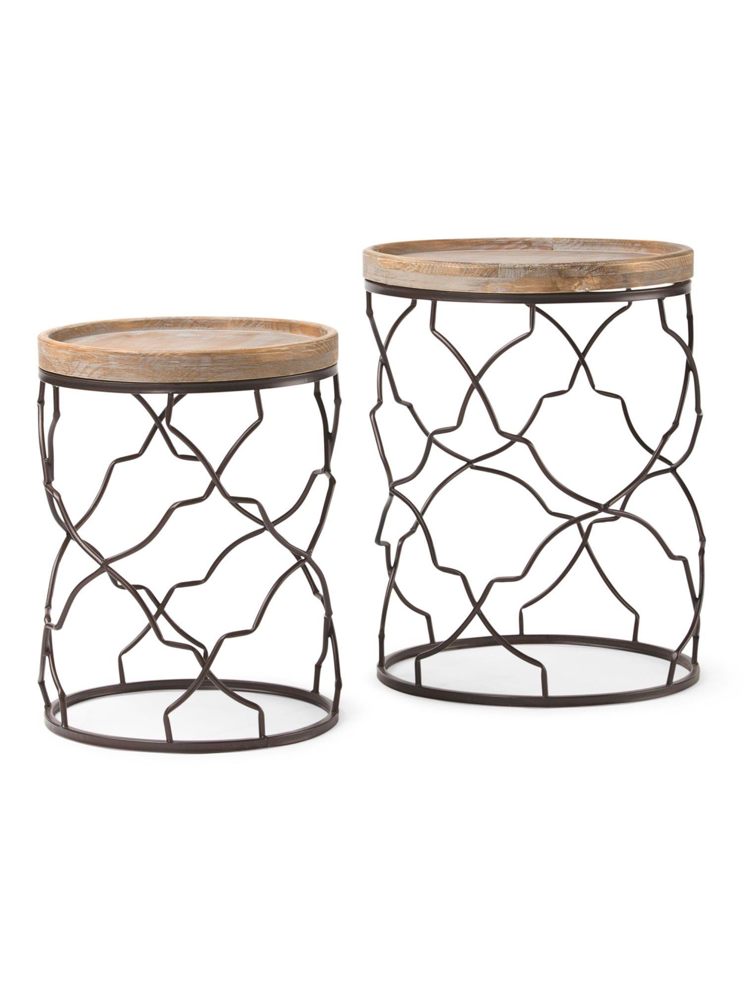 Set Of 2 Decorative Accent Tables