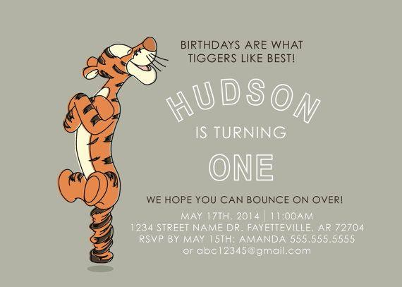Tigger Birthday Invitation Pdf 2nd Birthday Ideas Pinterest