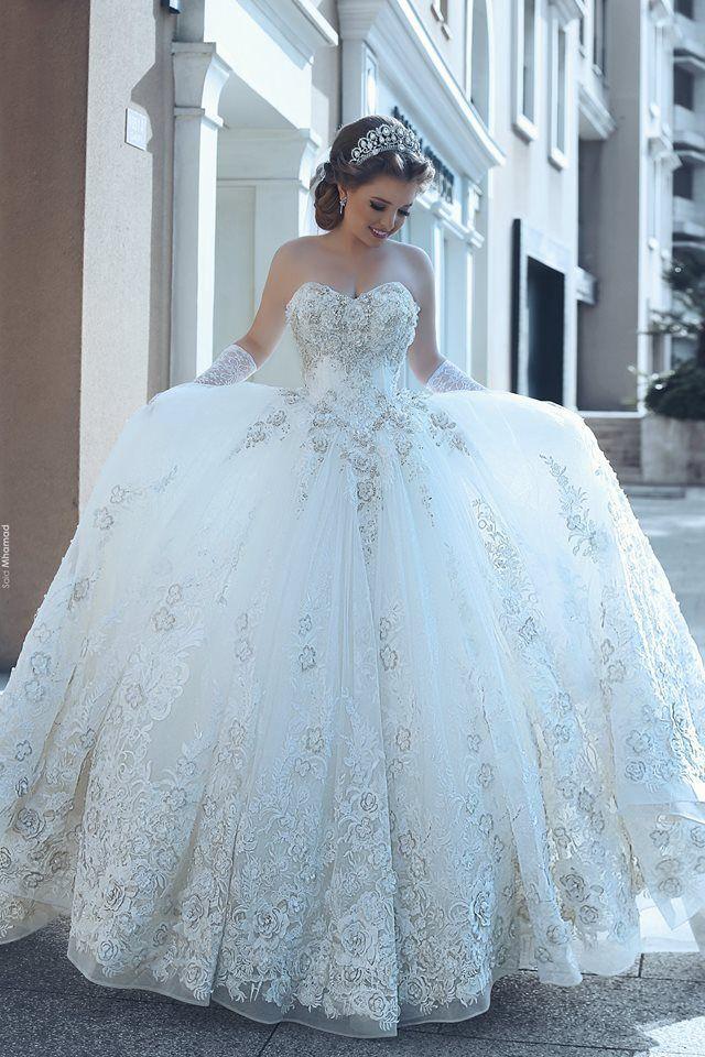 Schlichte Hochzeitskleider Spitze Günstig Prinzessin ...