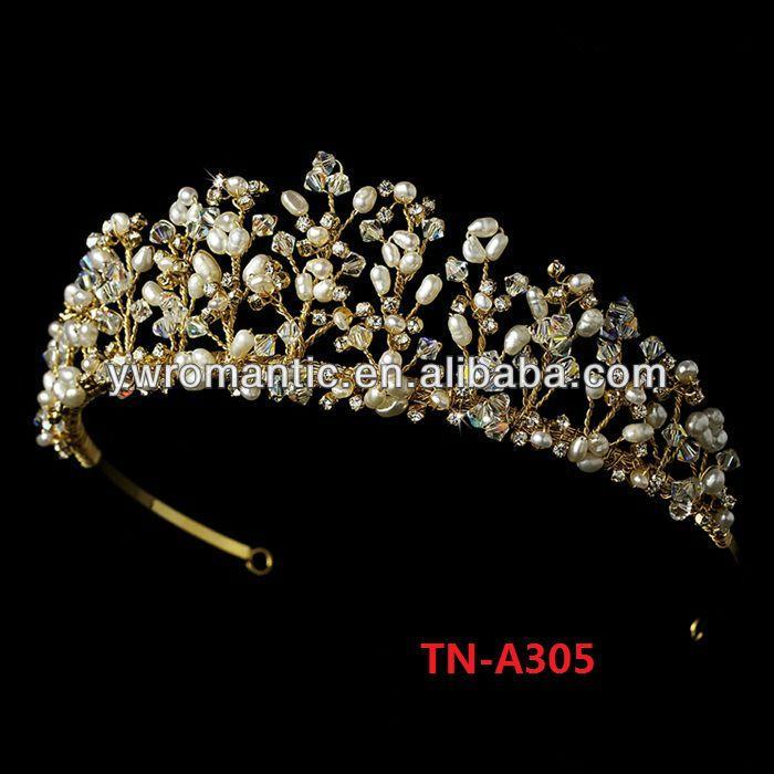 Pérola moda artesanal tiara