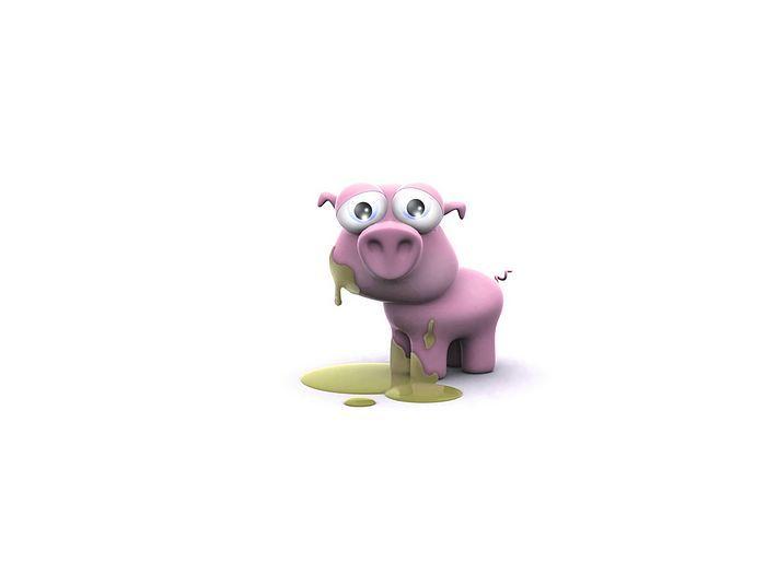 3d Little Pig Funny 3d Cartoon Pig Wallpaper 32 Wallcoo Net Cute Cartoon Animals Cartoon Animals Pig Wallpaper