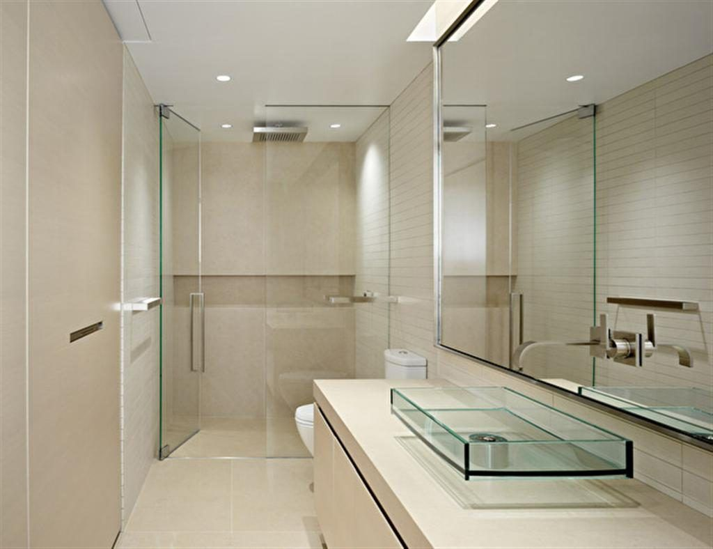 Apartment bathroom ideas modern - The Nice Design Of Small Modern Bathrooms With Interesting And Wonderful Decoration The Elegance Bathroom Design Idea Also White Roof Then Wall Also Glass