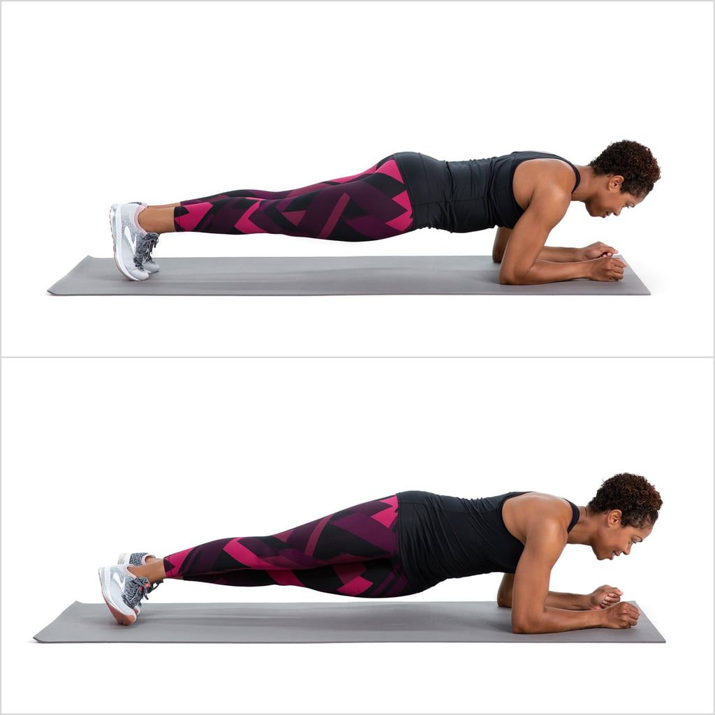 Elbow Plank With Hip Dips | Abs workout, Hips dips, Exercise